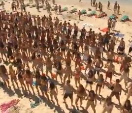 Flashmob plage israel